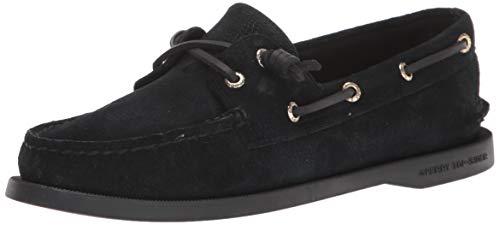 Sperry womens A/O Vida Boat Shoe, Black, 8 US