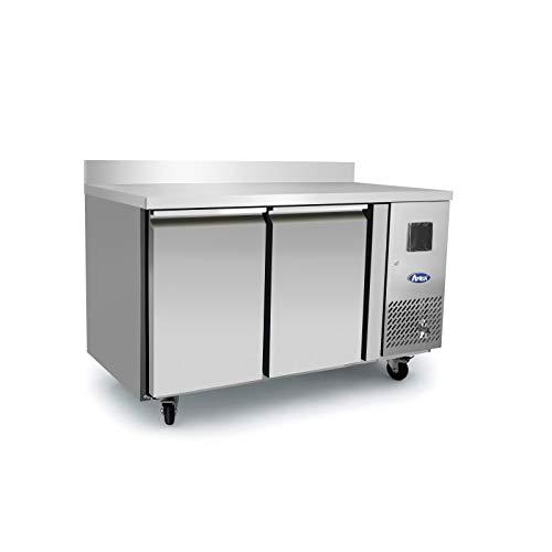 Table Réfrigérée Négative 2 Portes avec Dosseret - Profondeur 600 - Atosa - R290 2 Portes Pleine