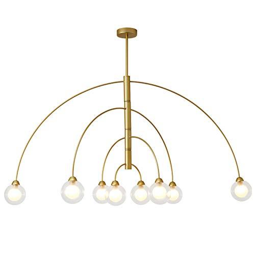 STAGE LIGHTING Lámpara de Cristal araña, hogar led Simple Moderno Creativo Bola Restaurante araña [Clase de energía A++]