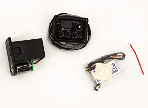 Tonabnehmer Akustikgitarre mit Tuner Stimmgerät 3-Band-Equalizer schwarz
