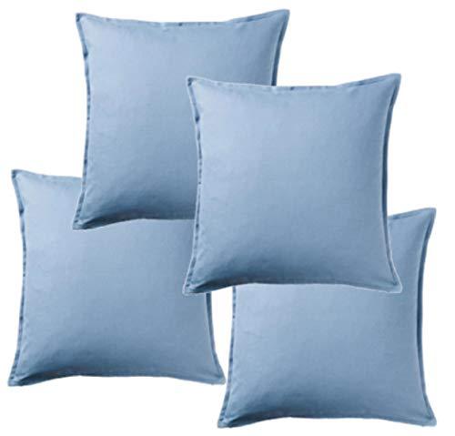 Ikea GURLI 504.334.16 - Set di 4 federe per cuscino, 50 x 50 cm, colore: Azzurro