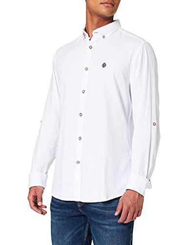 Springfield Camisa Estructura, Blanco, M para Hombre