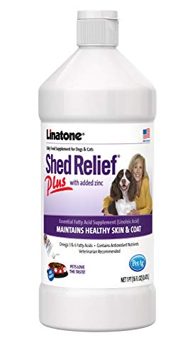 Lambert Kay Linatone Shed Relief Plus Dog and Cat Skin and Coat Liquid Supplement, 16 Ounces