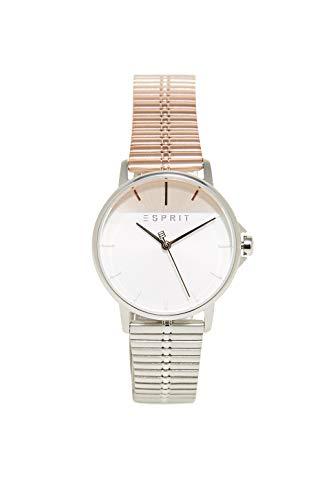 Esprit Damen Analog Quarz Uhr mit Edelstahl Armband ES1L065M0105