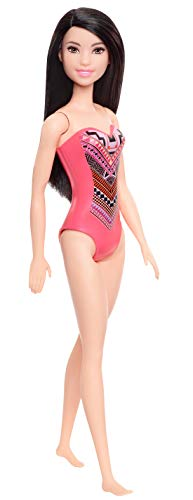 Barbie GHW38 Beach pop met badpak in astekenpatroon