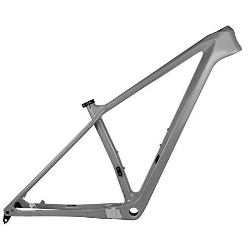 PPLAS 2021 Nuevo Marco de Carbono MTB 27.5er 29er Marco de Bicicleta de montaña de Carbono 148x12mm o 142 * 12 mm MARCHOS DE Bicicleta MTB (Color : Gray Color, Size : 17in Glossy 148x12)