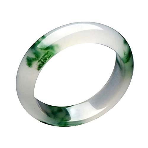 QVQV Pulsera de Jade Flor Flotante de Hielo Hetian Jade Pulsera Retro Sol Verde Jade Color Damas Jade Pulsera con Caja de Regalo 56-62 mm