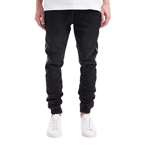 MINIKIMI heren jeans slim fit denim jeans broek voor mannen hiphop fitness jeans stretch jeans stijlvolle goedkope joggingbroek trekkoord broek