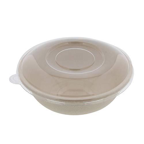 Spec101 Sugarcane Bowls & Lids – Disposable Bowls Microwave Safe Small Disposable Bowls Biodegradable Bowls 28oz 50pk