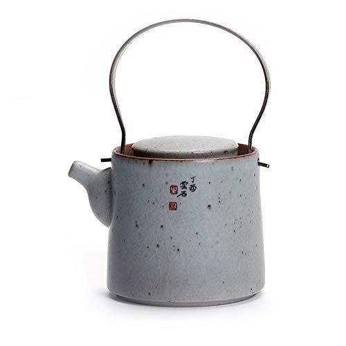 Tetera, Beam Pot, ceramica, Cobre domestico, Individual, Hervidor de Agua, Juego de te japones Kung Fu (Color : Text Section)