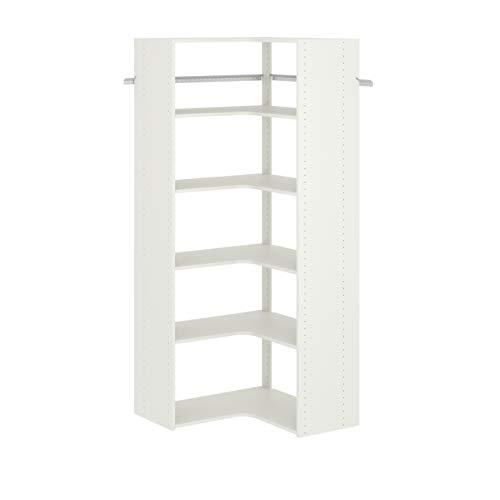 Nature Love Expandable Closet Tension Shelf Storage Rack Organizer|Adjustable Organizer Divider Closet Tension Shelves (Ivory, 60-100cm/23.62