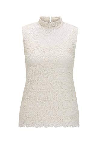 BOSS Damen Tells T Shirt, Open White (118), S EU