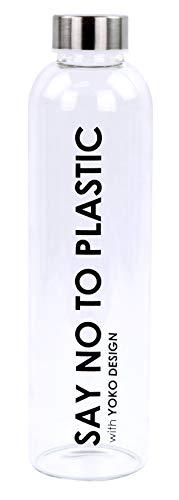 YOKO DESIGN 1693 Flasche aus Glas, 750 ml, Borosilikatglas, transparent, 26 cm