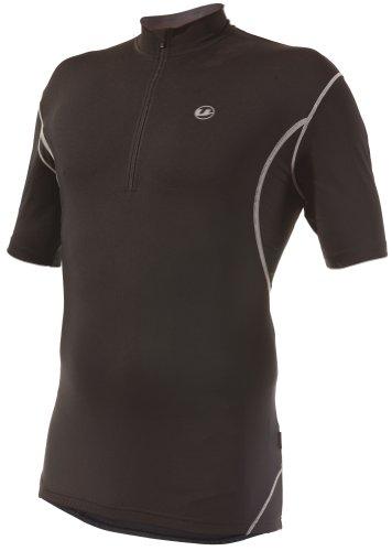 Ultrasport T-Shirt de Cyclisme pour Homme avec Fermeture Éclair Noir Black palomagrey s