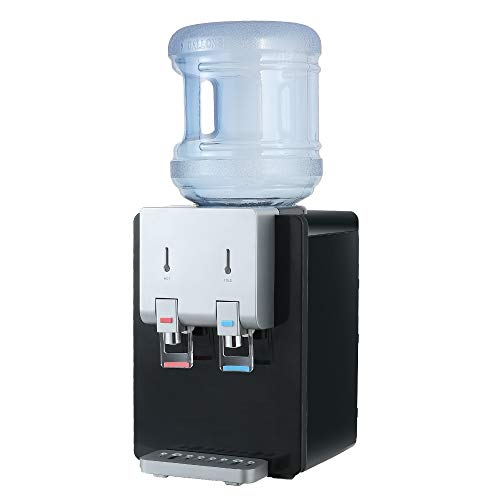 Amay Desktop Water Cooler Dispenser Top Loading Water Dispenser Hot & Cold Water Coolers with Child...
