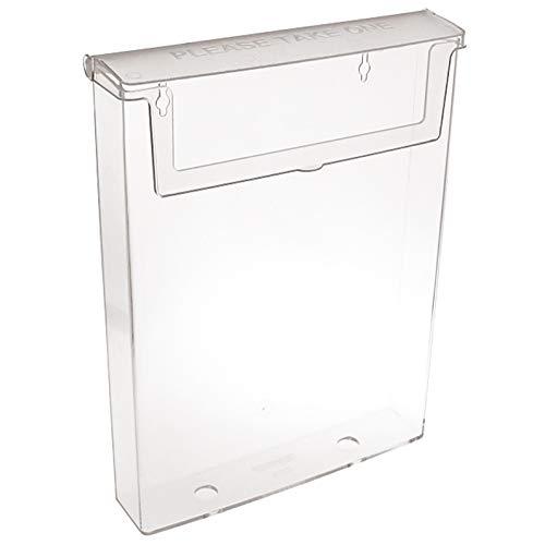 taymar DIN A4 Prospekthalter, Prospektbox mit Deckel, Wetterfest (auch für den Außenbereich geeignet)