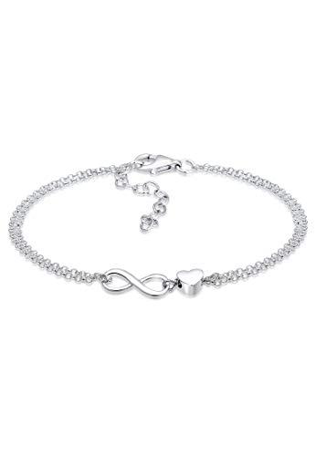 Elli Armband Damen Herz Liebe Unendlichkeit Infinity in 925 Sterling Silber