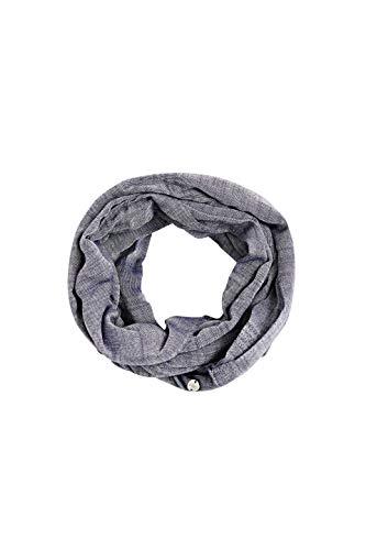 ESPRIT Accessoires Damen 990EA1Q301 Mode-Schal, 400/NAVY, Einheitsgröße