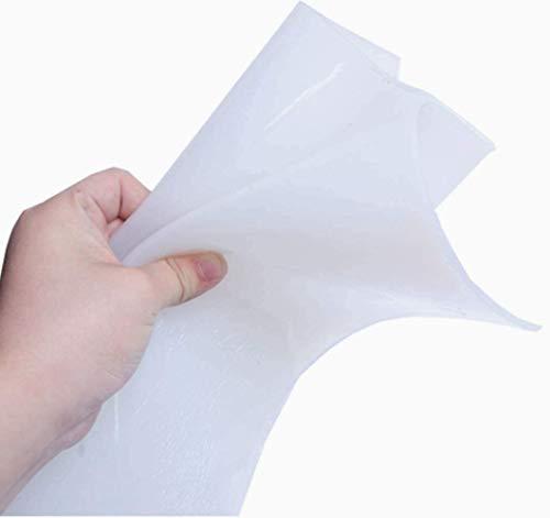 YJINGRUI シリコーンゴムシート 衝撃吸収 防音 ゴムシート 密封 コーキング・シーリング材 半透明 1pcs 滑り止め ゴム製 (500*500*2mm)