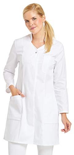 clinicfashion 10312012 clincifashion Damen Mantel weiß, V-Ausschnitt, Mischgewebe, Größe 52