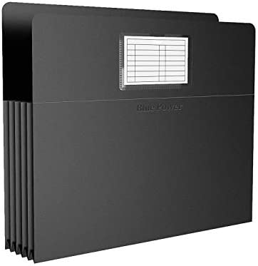 12 Pack BluePower Accordion Expanding File Folder Letter Size 6 Expansion Receipt Document Taxes product image