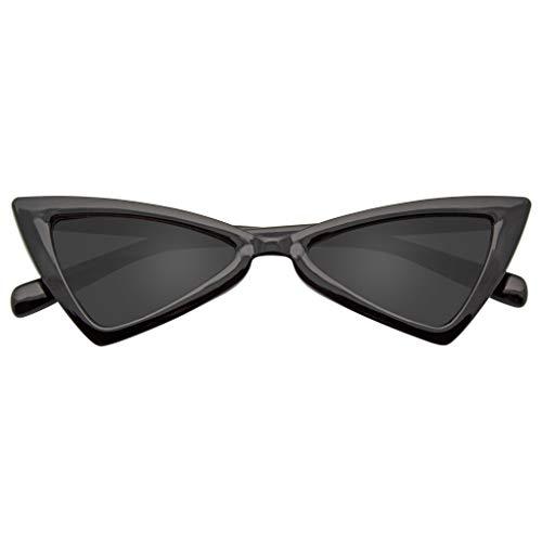 Emblem Eyewear - Mujeres Vintage Triángulo Gafas de sol Moda gafas Anti UV Retro Cat Eye Eyewear (Negro)