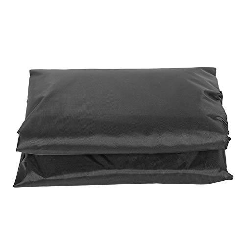 Aufee Couverture de Spa extérieur, Couverture de Source Chaude, matériau en Taffetas de Polyester 190T imperméable Enduit d'argent pour Source Chaude pour(Black)