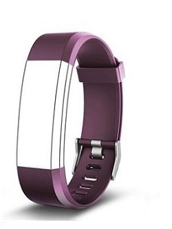Aquaasian ID115 Plus HR Replacement Strap Suitable for Your Style (Purple)
