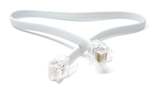 MainCore – Langes Flachkabel RJ12 auf RJ12 (6P6C) / RJ11 auf RJ11, 6-polig, erhältlich in 0,30 m, 0,50 m, 2 m, 3 m, 5 m, 10 m 0.30m
