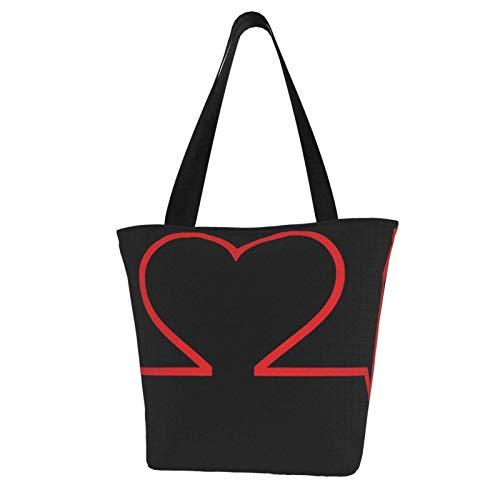 Krankenschwester und Herz EKG Krankenpfleger Frauen Mode Casual Canvas Tote Bag Shopping Handtasche Einkaufstasche
