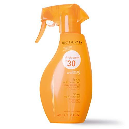 PHOTODERM Spray parfumé SPF 30+ 400ml  Protection optimale UVA-UVB – Active les défenses naturelles de la peau  Peaux sensibles et claires