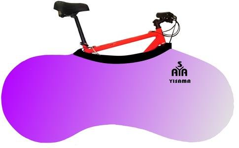 YISAMA Funda Bicicleta Decorativas, Funda Bici Para Interiores, Forro Para Bicicletas Motivo Degradación Lila
