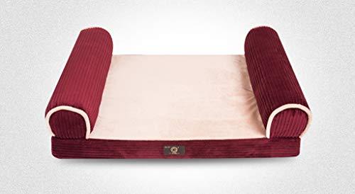 KHFFH Nest voor huisdieren, spons met hoge elasticiteit, comfortabele beet voor honden, oven, matras, groot hondenbed voor dieren, 82 * 62 * 23cm