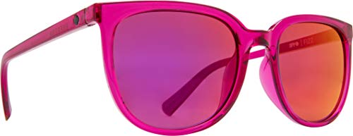 Fizz Classic Sunglasses for Men and for Women | REFRESH Collection by SPY OPTIC (RUBY, GRAY W/RUBY RED MIRROR)