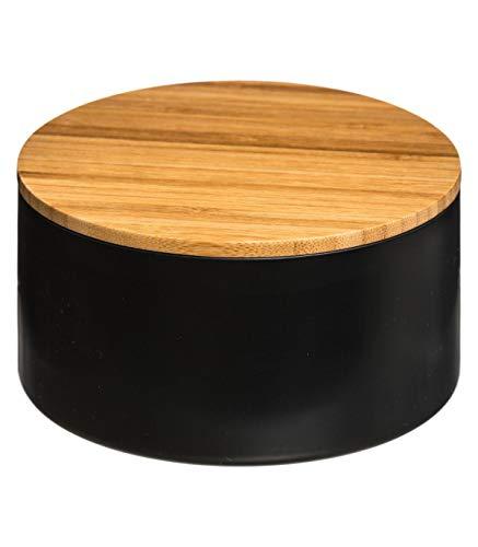 AC-Déco Boite de Rangement avec Couvercle Miroir - Noir