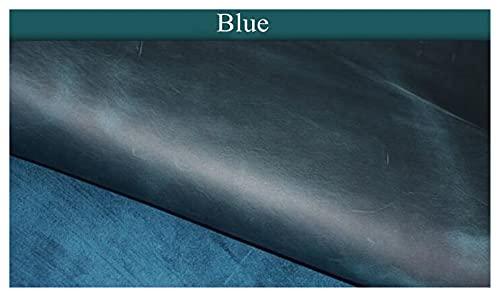 Demoyu 2.0mm de Espesor de Cuero Genuino Crazy Caballo Material de Cuero DIY Mano de Cuero Cabello de Cuero Primera Capa de Cuero (Color : Orange, Tamaño : 30x10cm)