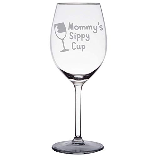 Mommys Sippy Cup - First Mothers Day Gifts for Mom, Wife - Funny Mom Gifts from Daughter, Son - Best Mom Birthday Presents for Any Mom, New Mom, Mom to be, Pregnant Mom - WG15