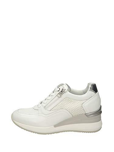 Nero Giardini E010466D Sneakers Donna in Pelle - Bianco 37 EU