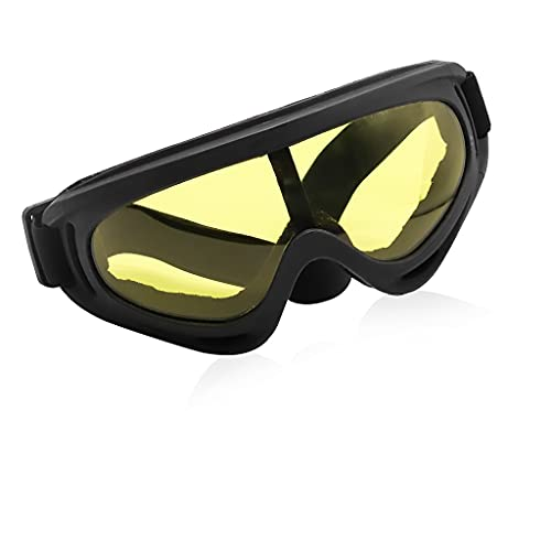ELEPHANTBOAT® Uv400 Windproof X400 Goggles Motorcycle Glasses For Outdoor Riding Yellow