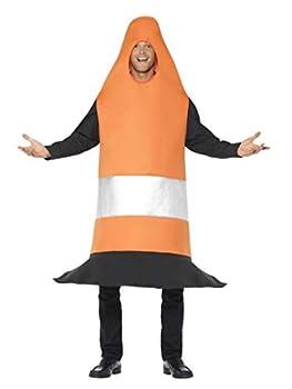 Smiffys Men s Traffic Cone Costume Orange One Size