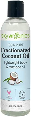 Fractionated Coconut Oil by Sky Organics 8 oz Natural Fractionated Coconut Oil MCT Oil Moisturizing product image