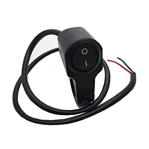 Controla el Interruptor de la luz 22 cm 7 / 8En Motorycle Manillar Mandarilla Interruptor de luz de Tres Posiciones Interruptor Impermeable 12V Foco de Refuerzo para manillares (Color : Black 2)