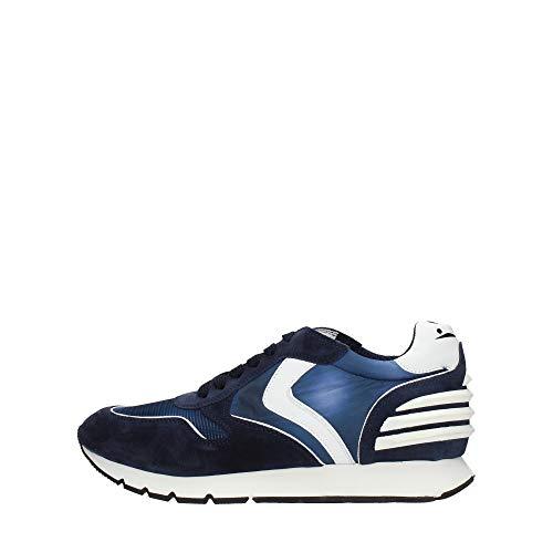 VOILE BLANCHE Liam Power-Sneaker in Suede Vintage, Nylon Tecnico e Micro Rete Blu 42