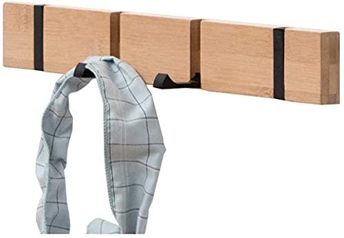 HJW Praktische opbergrek Opknoping Entryway Plank met verborgen haak, massief houten wandbeugel voor deur achter woonkamer slaapkamer badkamer installatie 1Huiyang-01020,30 cm