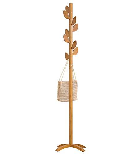 LIPENLI Perchero de aterrizaje sólido simple de madera Percha Percha Percha Dormitorio