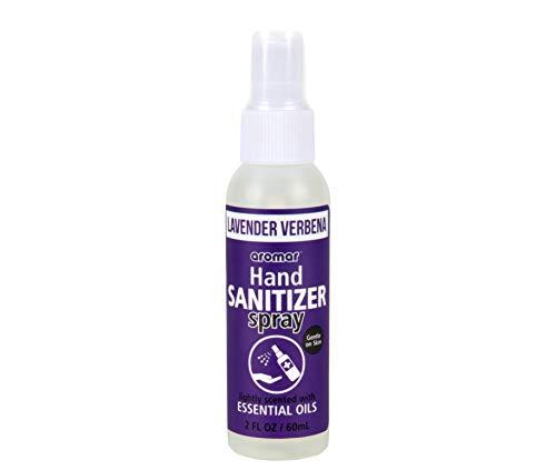 Aromar 1-Piece 2oz Hand Sanitizer Lavender Verbena 70% Alcohol Scented Essential Oils