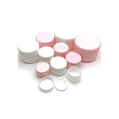 30Pcs 10g/20g/30g/50g/100g Empty Makeup Jar Pot Refillable Sample Bottles Travel Face Cream Lotion Cosmetic Container White,Pink Jar,30g