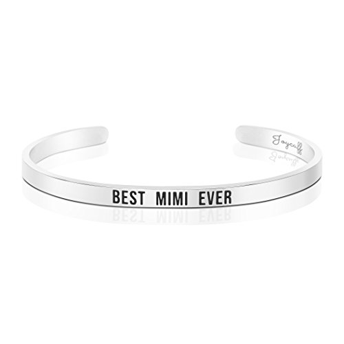 Best Mimi Ever Bracelet Jewelry Gifts for Grandma Mantra Cuff Bracelets Bangle