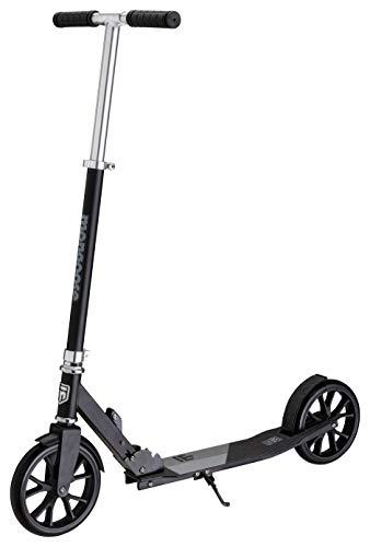 Mongoose Trace Kick Scooter Folding Design, 205mm Wheels, Black/Grey