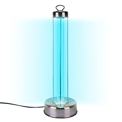 Whole Room UV Light Sanitizer - USA 100W Professional Grade UV-C Lamp for Commercial & Home Use - With Remote, Timer, & 10,000hr Bulb - EPA Registered, Lab Certified 99.9% Germ Kill in 15 Mins
